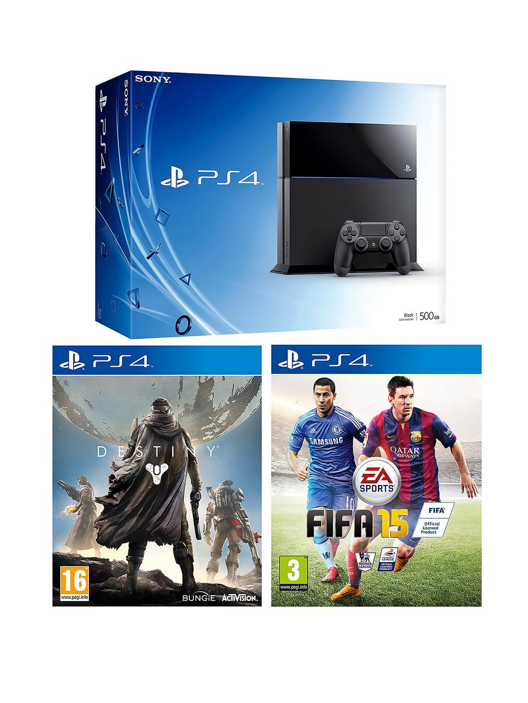 Playstation 4 500Gb Console with Destiny, FIFA 15 and ...