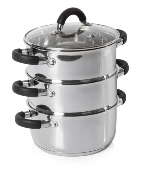 Steady Cook 3-Tier Stainless Steel Steamer Set
